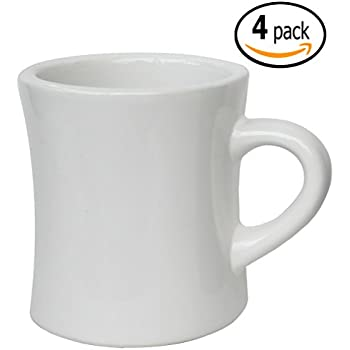 Amazon Com Classic Diner Mugs White 4 Pack 10