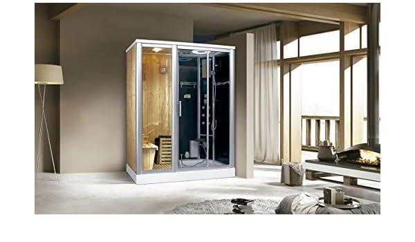 Trade-Line-Partner - Ducha de vapor (170 x 100 cm, incluye función de sauna): Amazon.es: Hogar