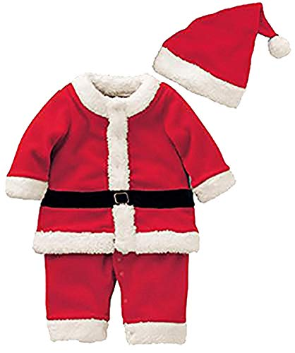 Baby Boys Girls Santa Claus Suit Kids Christmas Halloween Costume Cosplay Set Size 6-12Months/Tag80 -
