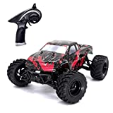 remote control big foot truck - Tecesy RC Truck 4WD Big Foot Pickup 2.4GHz 1:18 Scale Off Road Remote Control Car Splashproof Electric Dune Buggy Racing Terrain Car with Independent Suspensions Rc Car for Adults& Kids RTR - (Red)