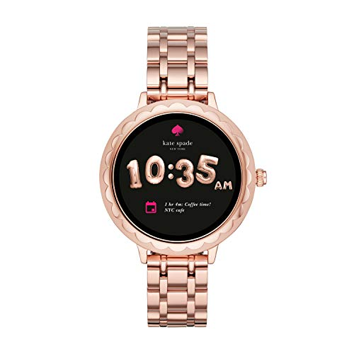 (Kate Spade New York Scallop Touchscreen Smartwatch, Rose Gold-tone Stainless Steel Bracelet, 42mm, KST2005)