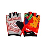 VORCOOL Bicycle Gloves Outdoor Sports Half Finger Gloves Gym Weight Lifting Workout Jogging Running Exercise for Kids Children(Dinosaur)