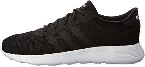 adidas Neo Women's Lite Racer W Sneaker, Black/White, 9 M US