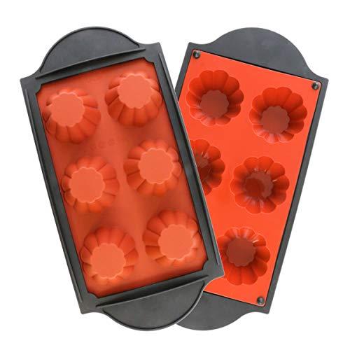 oggibox Frame Silicone Mold for Muffin, Cupcake, Brownie, Cornbread, Cheesecake, Panna Cotta, Pudding, Jello Shot, Soap and More (Brioche Pan)