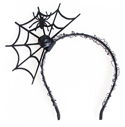 Spider Web Costume Accessories (La Vogue Halloween Decorations Costume Spider Web Hair Hoop Headband)