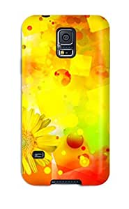 New Premium ZippyDoritEduard Bright Yellow Flower Abstract Skin Case Cover Excellent Fitted For Galaxy S5