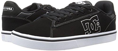 DC Men's Notch Skate M Skateboarding Shoe, Black/White, 12.5 M US