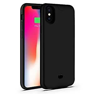 Iphone x Battery Case,Sgrice 4600Ah Rechargeable Portable Battery Charging Case Extended Battery Juice Pack Protective iphone Case for iphone X/10(5.8inch) –Black