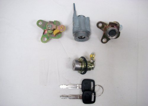 PT Auto Warehouse LS-8 - Ignition, Door, Trunk Lock Cylinders with Keys Set