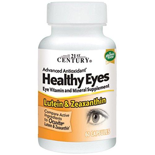 21st Century, Healthy Eyes, Lutein & Zeaxanthin 60 Capsules (Pack of 2)