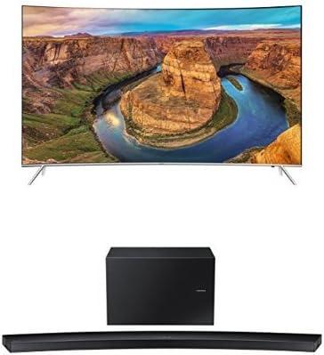 تلویزیون خمیده سامسونگ UN55KS8500 55 اینچ با نوار صوتی خمیده HW-J8500R