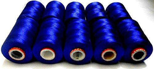 Purple Silk Thread Bracelet (Goelx Silk Thread Shiny and Soft thread Beading thread for jewelry making-tassel making- embroidery. 10 Royal Blue Jewelry Making -embroidery Threads Included.)