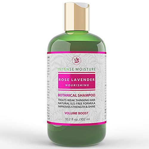 - Shampoo for Hair Loss Prevention Postpartum Alopecia Rose - Lavender Intense Moisture Nourishing Volume Boost Botanical Hair Growth with Argan Oil Vitamins for Dry Damaged Hair 10.2 Fl Oz