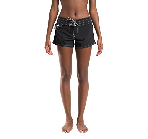 Birdwell Women's Stretch Board Shorts - Regular Rise (Black, 8) by Birdwell Beach Britches (Image #6)