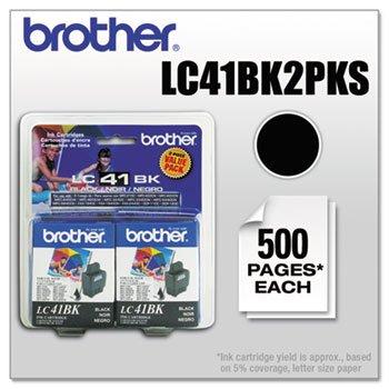 (BRTLC41BK2PKS - Brother Black Ink Cartridge )