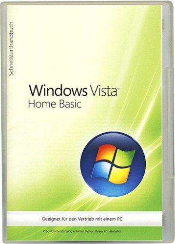 Windows Vista Home Basic 32 Bit OEM inkl. Service Pack 1