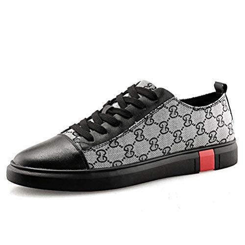 Shoes La Mode Course Leather À Sneaker Pied Skate Hommes Pour Chaussures De 42 gray qWtH88