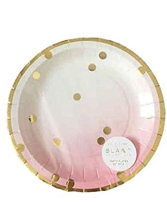 Slant Gold Foil Polka Dots Pink Ombre 7\u0026quot; Paper Plates  sc 1 st  Amazon.com & Amazon.com: Slant Gold Foil Polka Dots Pink Ombre 7\
