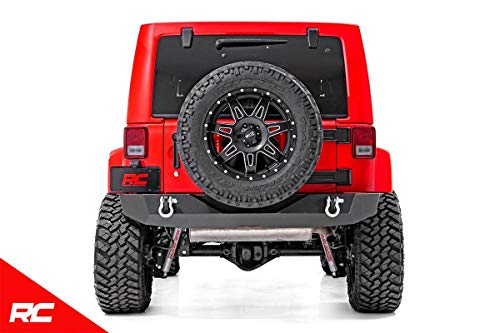 Rough Country Offroad Rock Crawler Rear Bumper Compatible w/ 2007-2018 Jeep Wrangler JK Includes D Rings 10593