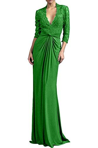 Damen Grün Brautmutterkleider Festlichkleider Etuikleider Langarm Dunkel Blau Spitze Charmant Neu Abendkleider dcpwvaBq