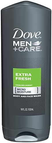 Dove Men+Care Body and Face Wash, Extra Fresh 18 oz (Pack of 3)