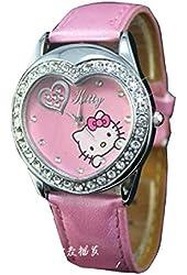 Lovely Fashion Hello Kitty watches Girls Ladies Wrist Watch WKT@DGW53465P