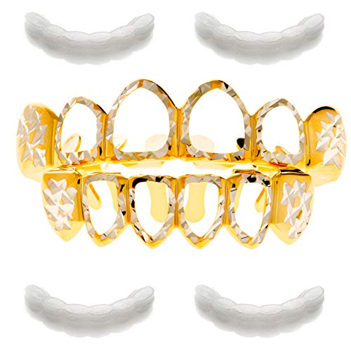 open face gold grill - 3