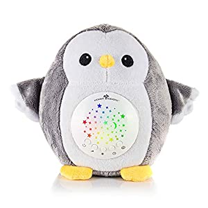 Mommy Paradise Baby Toys White Noise Sound Machine & Cry Sensor – Owl Baby Soother Sleeping & Calming Aid Night Light Star Projector – Portable Lullaby & Shusher, Baby Boy & Baby Girl Shower Gift
