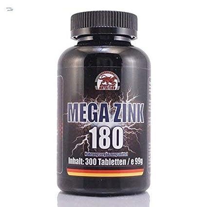 Zinc tabletas - Gluconato de Zinc Mega Zink 180 - 300 tablets