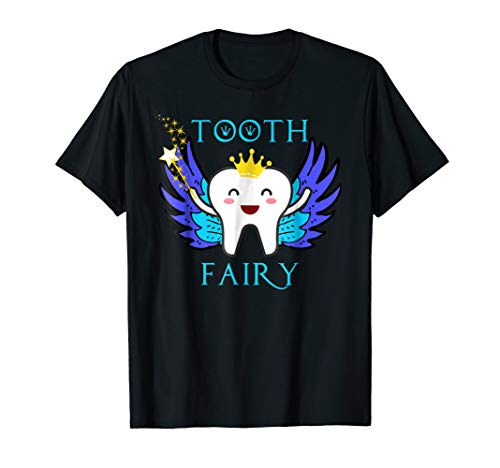 Cute Tooth Fairy Crown Blue Baby Tooth Costume T Shirt