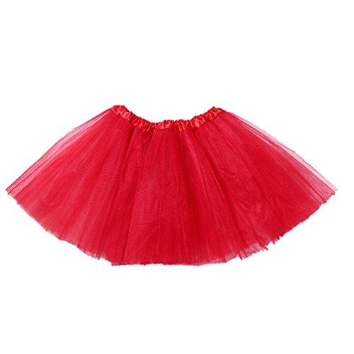 Dentelle Pettiskirt Tulle Jupe jupe Tutu Volants Enfant Classique Couche Deguisement Rouge Jupon en Deguisement Petite Jupe Fille Danse Courte Jupes Tulles Fille Tulle xUrZtXwqU
