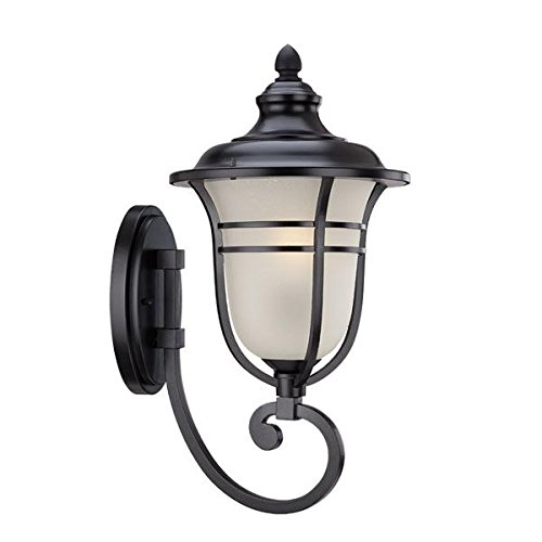 Acclaim 3671BK Montclair Collection 1-Light Wall Mount Outdoor Light Fixture, Matte Black by Acclaim B00INDTVO2