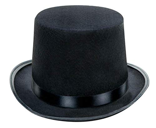 luyaoyao Black Felt Top Hat, Costume Dress Up Party Hat]()