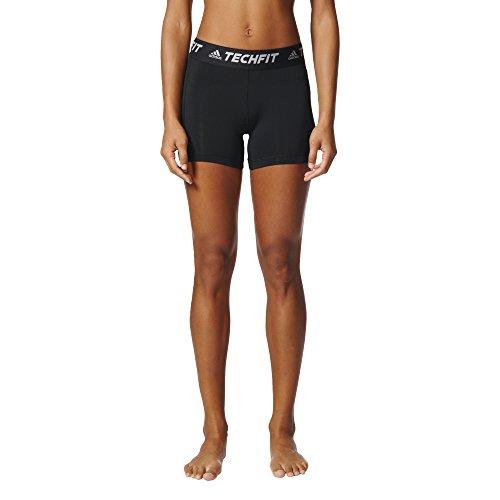 adidas Women's Soccer Techfit Base Short Tights, Black, Small