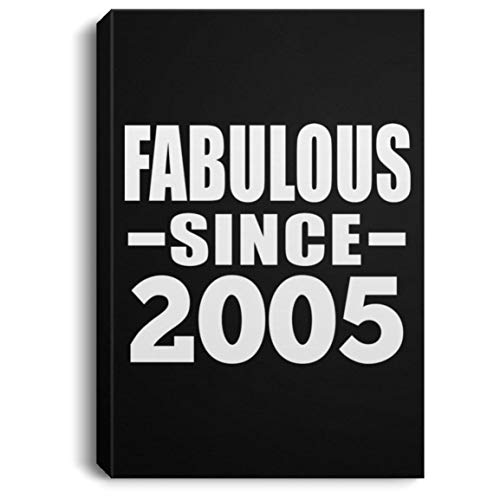 - 14th Birthday Fabulous Since 2005 - Canvas Portrait 8x12 inch Wall Art Print Decor-ation - Gift for Friend Kid Daughter Son Grand-Dad Mom Mother's Father's Day Birthday Anniversary