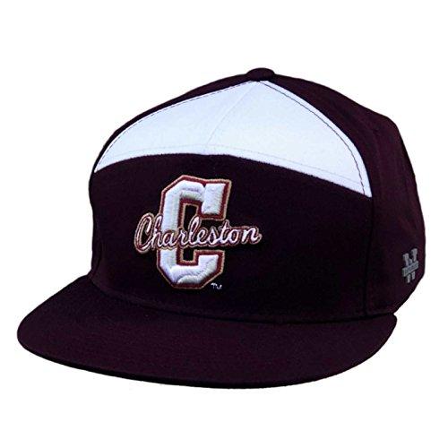 Charleston Cougars Baseball - College of Charleston COFC Cougars NCAA 7 Panel Flat Bill Snapback Baseball Cap Hat