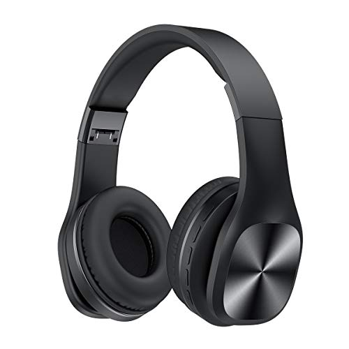 SANAG F09 Bluetooth Headphones Over Ear, Hi-Fi Stereo Wireless Headset, Foldable, Soft Memory-Protein Earmuffs, w/Built-in Mic and Wired Mode for PC/Cell Phones/TV.