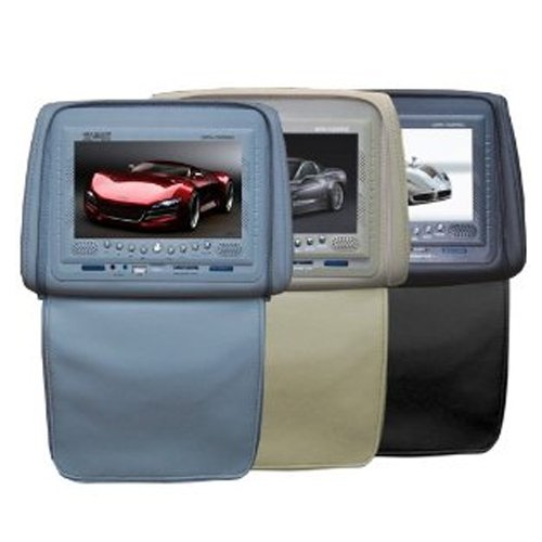 Absolute DPH750PKGBK 7.5-Inch Headrest Monitor Package with Built-In DVD Player, IR Transmitter, and FM Modulator (Black)