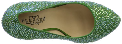 Pleaser Day & Night, Scarpe col tacco donna, Verde (verde), 40 (7 UK)