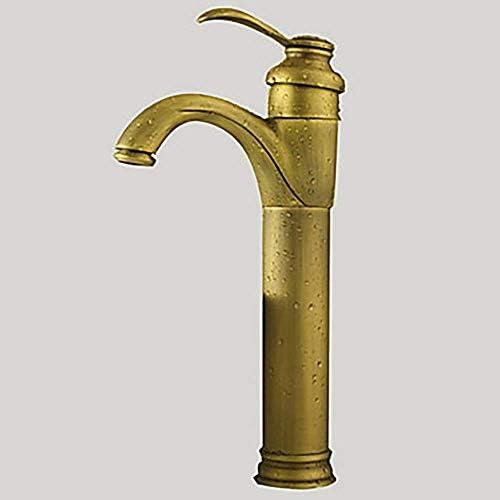 CHENBIN-BB レトロなバスルームのシンクの蛇口 - 回転アンティーク真鍮コンテナ単穴/シングルハンドルワン蛇口防錆