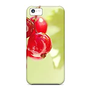 Excellent Iphone 5c Case Tpu Cover Back Skin Protector Red Currant