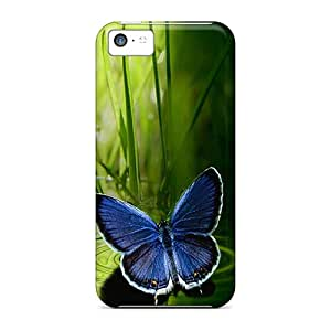 Shock-dirt Proof Blue Butterfly Cases Covers For Iphone 5c