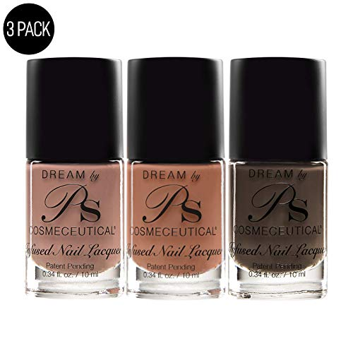 PS Polish Earth Tone Collection Nail Polish Set - Non-Toxic & Antifungal Nail Enamel - Quick Dry Nail Lacquer - Three Pack Enamel Combo - Sanctuary, Apricot Wink, Shadow Color, 0.34 Fl.Oz, MSRP $14.99
