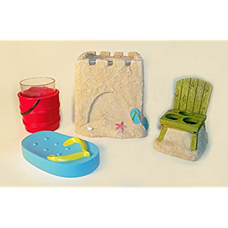 41k6d7bf4lL._SS450_ 50+ Beach Bathroom Accessory Sets and Coastal Bathroom Accessories