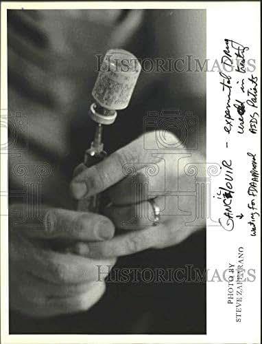1987 Press Photo Gancic/ovir, experimental AIDS drug treatment - sia02662