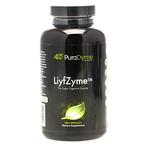 PuraDyme LiyfZyme Plant Based Digestive Enzyme Supplement - 500 Veggie Capsules. By Lou Corona
