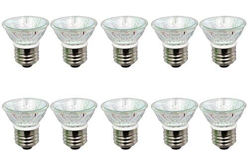 (Anyray A1878Y (10-Pack) HR16 120V 50W E26 MR-16 50 Watts PAR16 PAR16 JDR C Halogen Bulb Lamp EXN Flood with Lens (50)