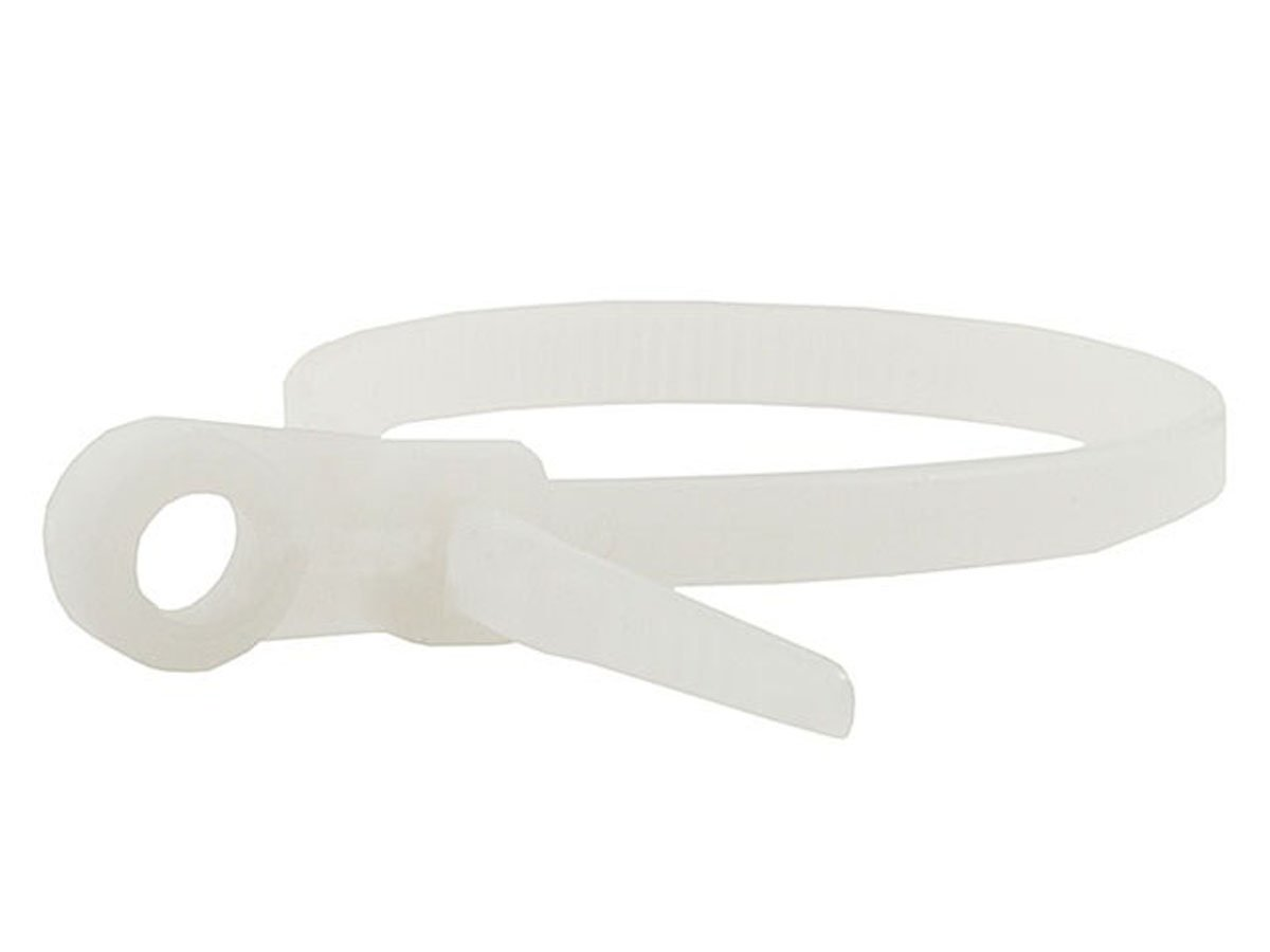 Monoprice 105786 8 Inch 40LBS Mountable head Cable Tie 100 Piece Pack White Discontinued by Manufacturer