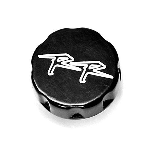 Krator Motorcycle Fluid Black Reservoir Cap Logo Engraved For 2000-2001 Honda CBR 929RR