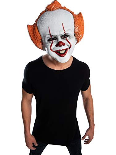 It Mask Clown (Rubie's IT Movie Chapter 2 Adult Pennywise Vacuform Mask, As As Shown, One)